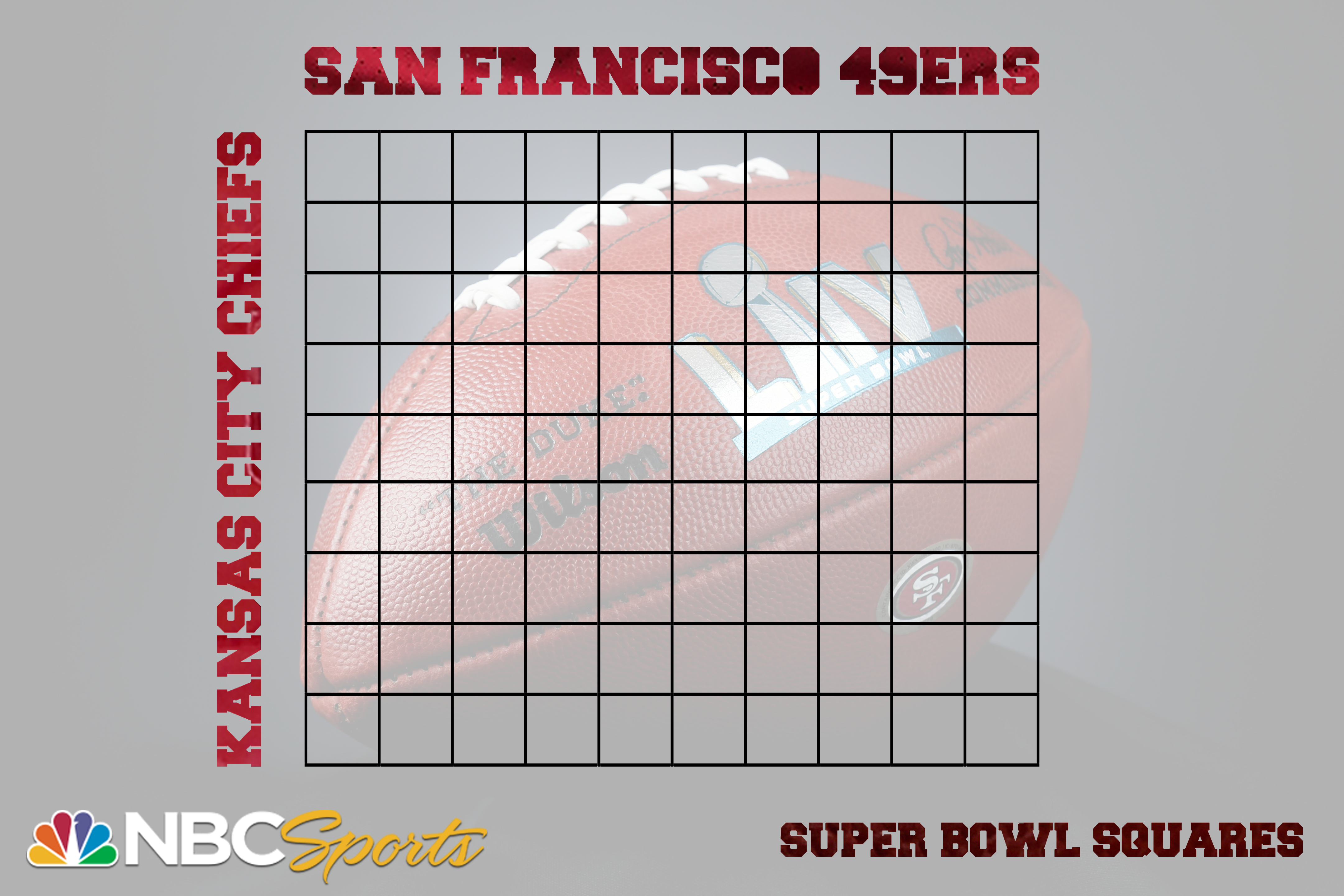 It is a photo of Clever Super Bowl Grid Printable