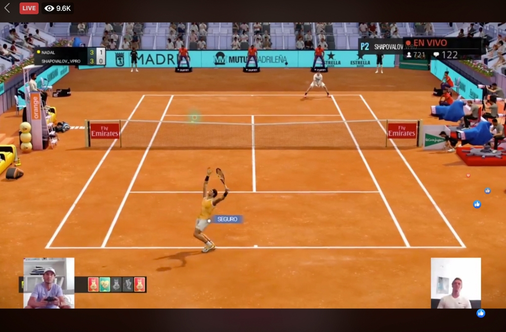 Injury, glitches as Madrid Open tennis presents COVID gaming - NBC Sports