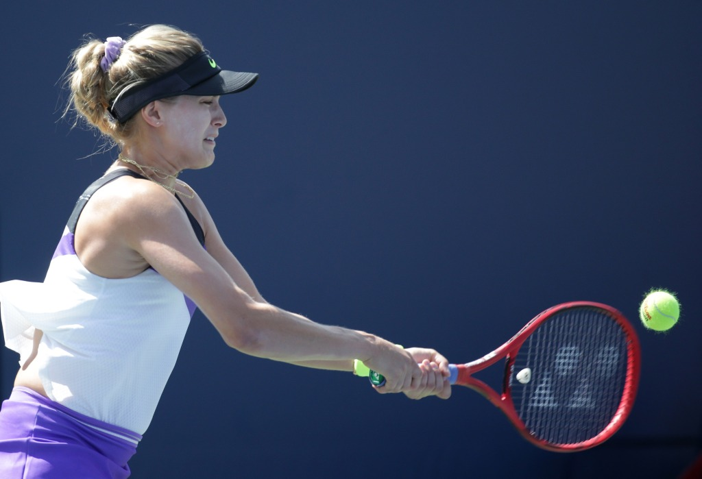 Bouchard in Prague Open second round amid strict rules, rain