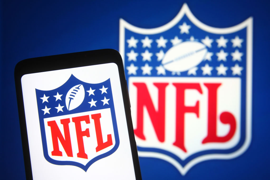 In this photo illustration, an NFL (National Football League
